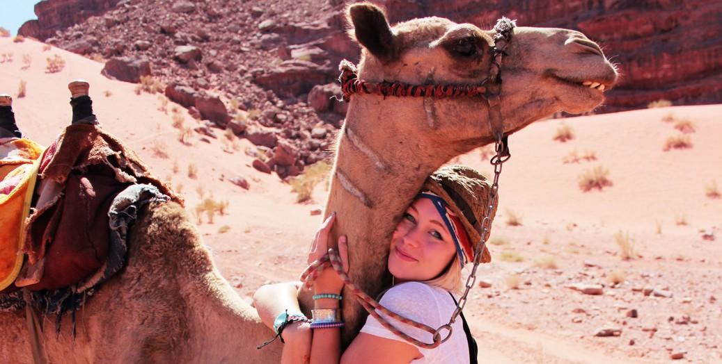 Kamelen wadi rum