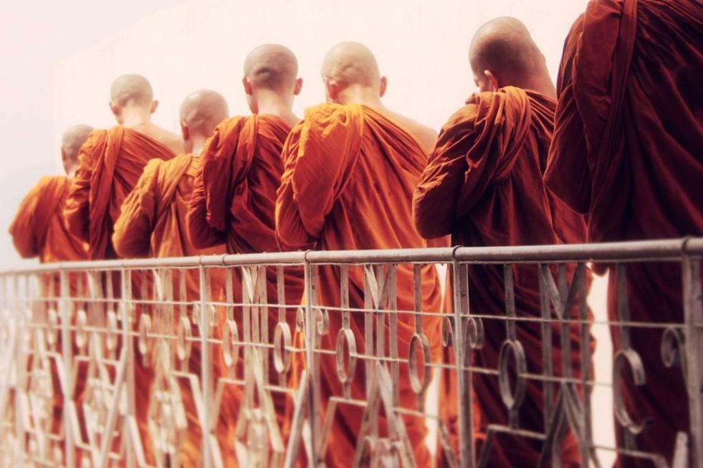 Monks Laos Luang Prabang