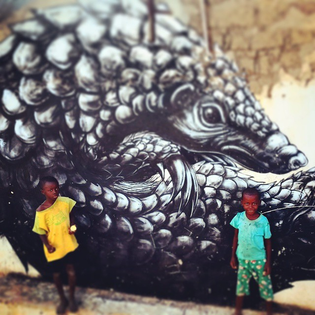 Even my favourite street artist has been in the Gambia. Roa, hero! #ttot #Gambia #TheGambia