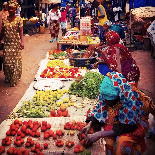 Serrakunda market. I love local markets as this is where life happens. I bought some pretty fabric and as we speak, a tailor is creating a beautiful African dress like the woman on the left for me. Hopefully it will be ready in time!
