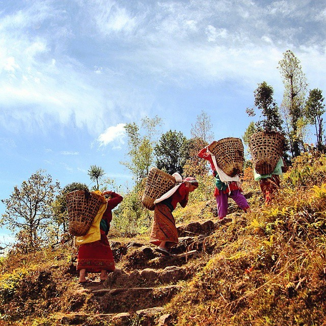 Nepalese women are so petite yet so strong. The hard edges of rural life.