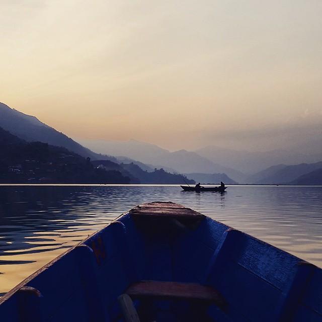 Phewa Lake at sunset. ❤