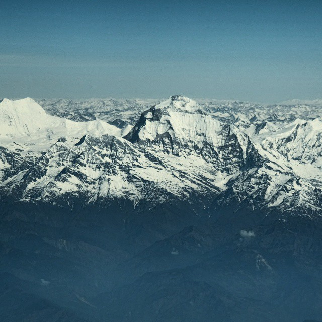 Can't get enough of this. It almost looks like a painting. Top of the world. #Himalaya