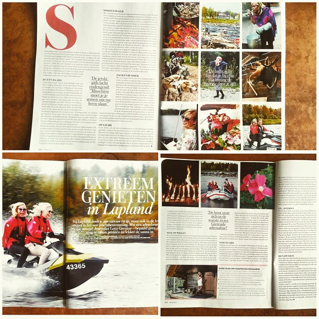 Another publication of my Finnish Lapland photographs in VROUW magazine! #proud