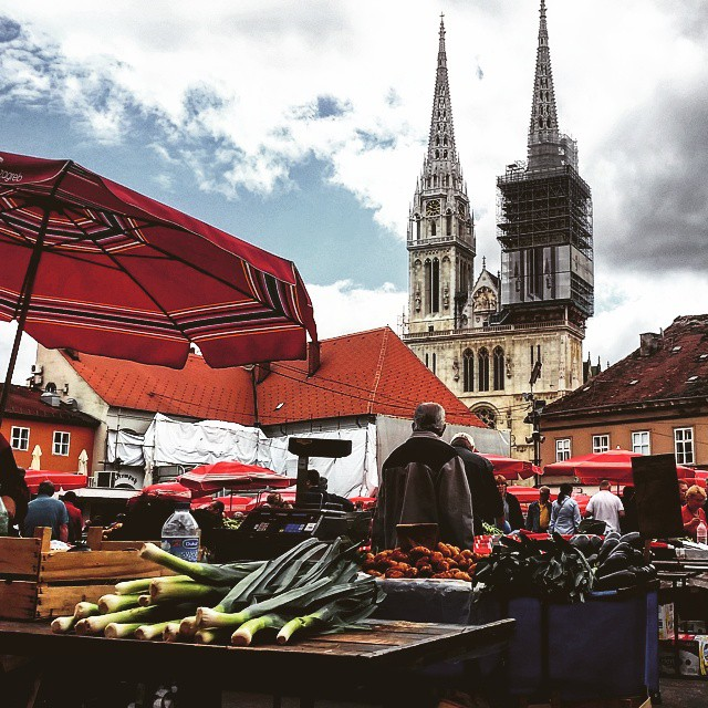When traveling, I love to visit local markets and feel the real hustle and bustle of daily life. #Zagreb #Greenmarket