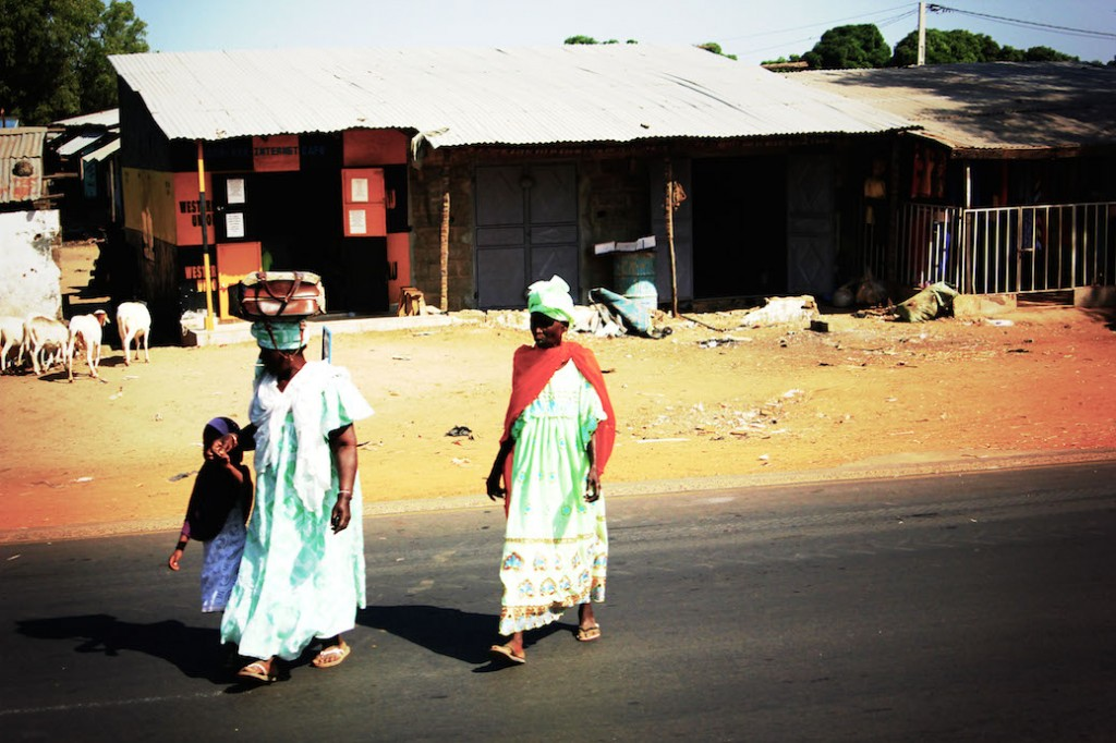 Straatleven Gambia