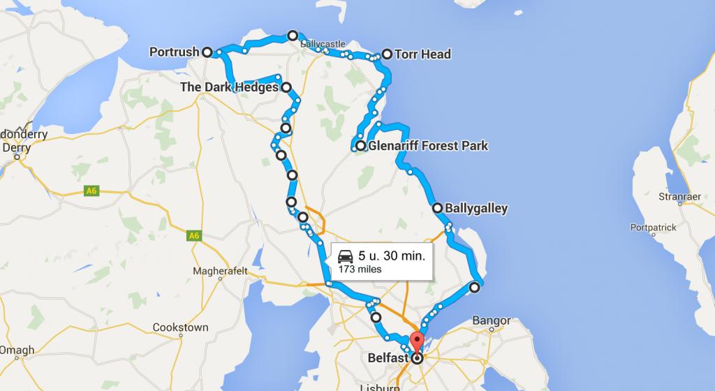 Route Noord-Ierland