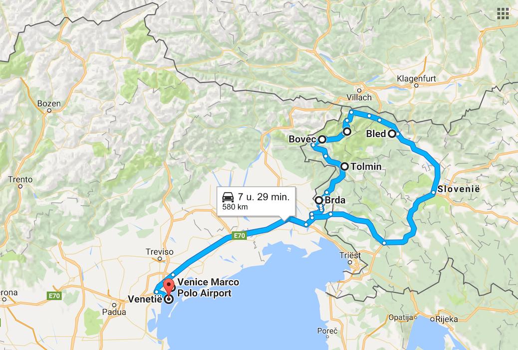 route slovenie